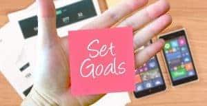 setting small-win financial goals